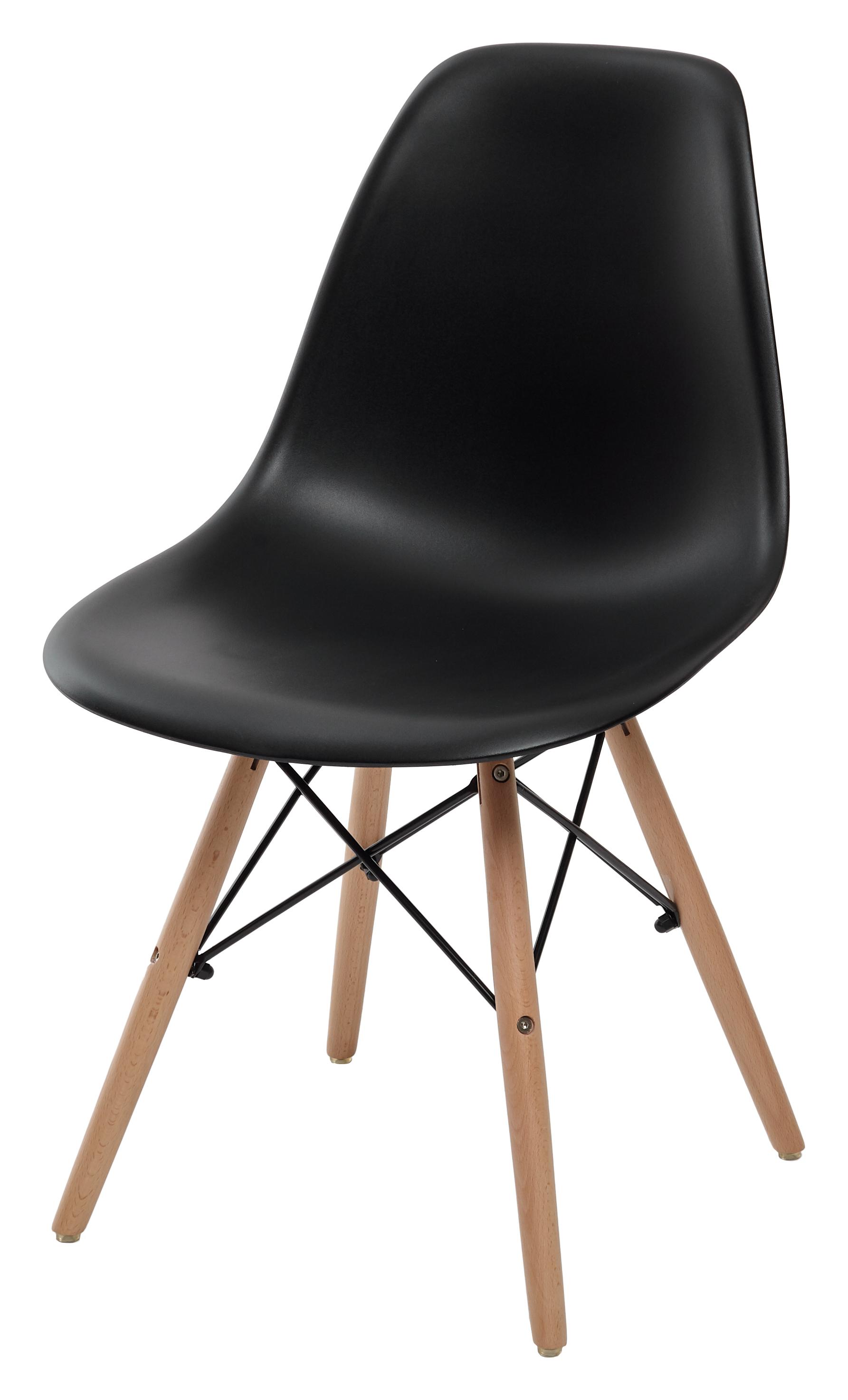 Люпин стул на деревянном каркасе пластиковый