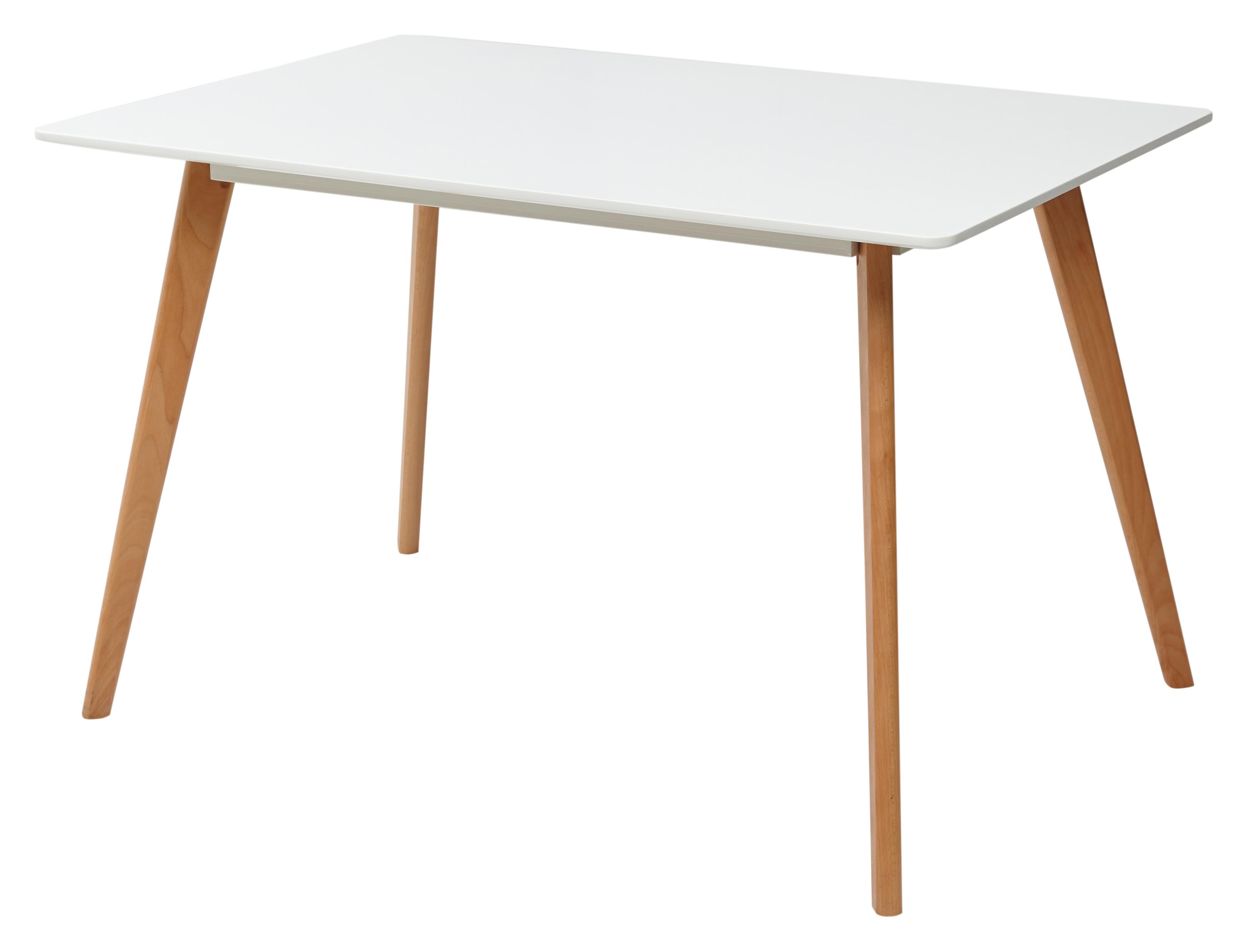 Абеле Белый Стол на деревянном каркасе 120*80