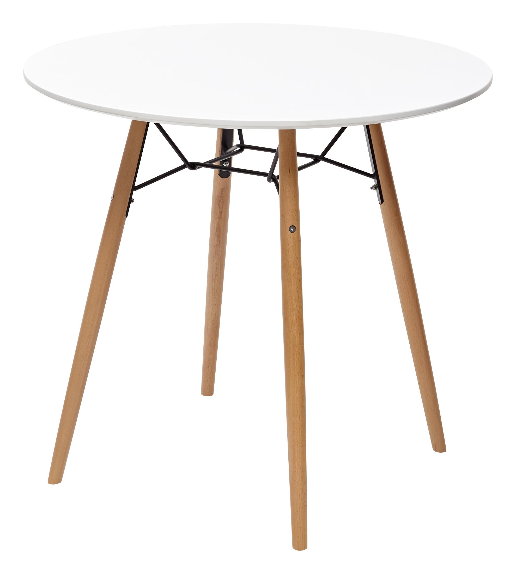 Клиде Белый Стол на деревянном каркасе Д90