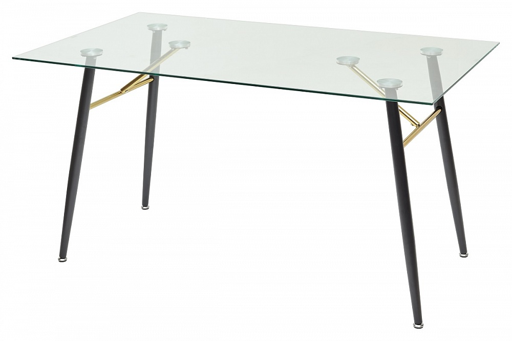Голд Стол стеклянный на металлическом каркасе 140*80