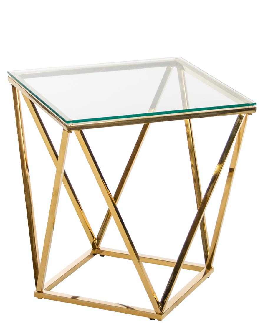 Куб Журнальный стол стол металлический 50*50*55 золото