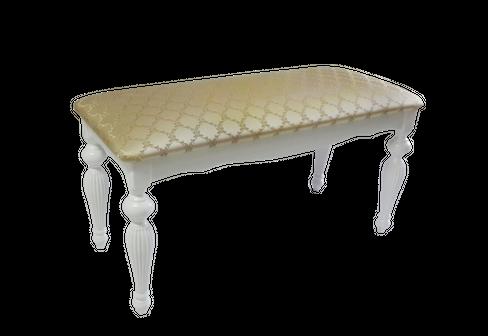 Банкетка с точеными ногами 900*380*440, цвет Эмаль белая